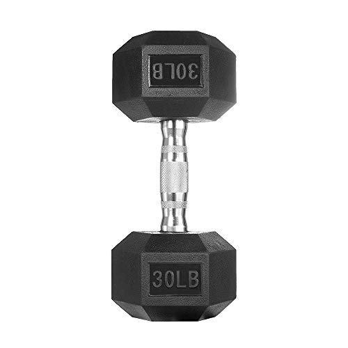 papababe Dumbbells Free Weights Dumbbells Weight Set Rubber Coated cast Iron HeX Black Dumbbell