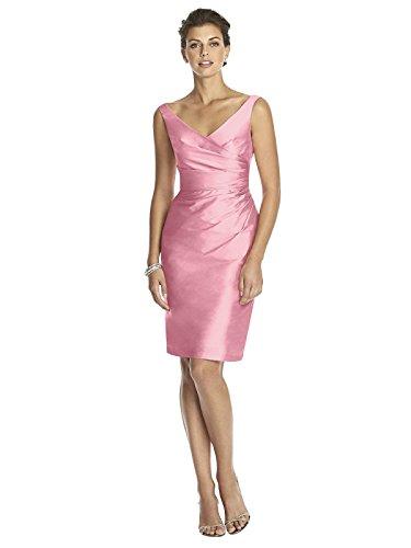 (Forever Dessy Women's Cocktail Length Sleeveless V-Neck Peau De Soie Dress - Twirl - Size)