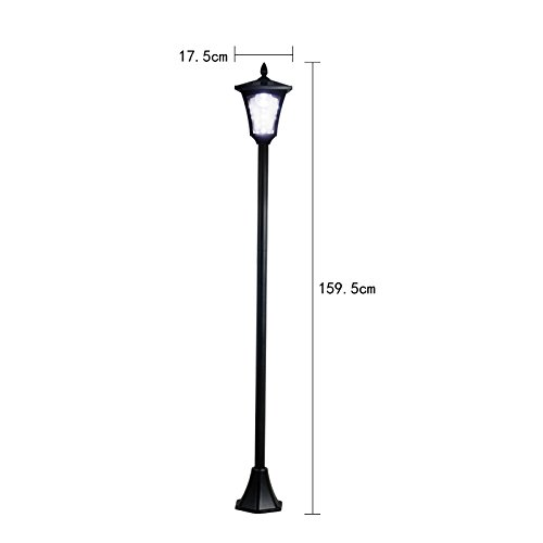65'' Street Vintage Outdoor Garden Leds Bulb Solar Lamp Post Light Lawn - Adjustable