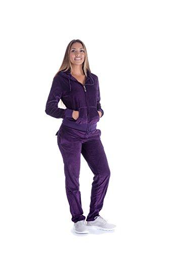 Velour Pants Suit - 1