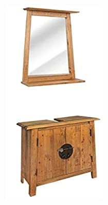 K&A Company Bathroom Furniture Set, Bathroom Furniture Set Solid Recycled Pinewood