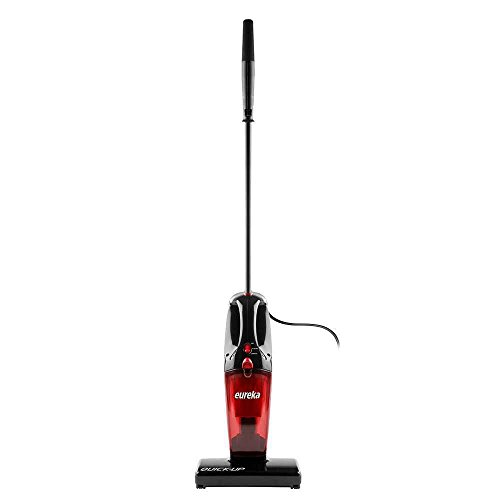 Eureka 2-in-1 Quick-up Bagless Stick Vacuum Cleaner Handheld Motorized Brush Roll, Corded Vacuum,Red