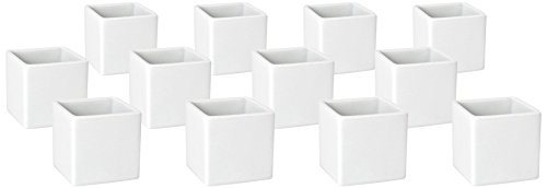 Front of the House ASC015WHP23 Canvas Square Ramekin, 2.3