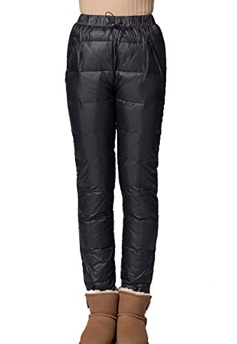 Flygo Women's Packable Down Velet Wadded Pants Warm Snow Trousers (X-Large, - Pants Insulated Down