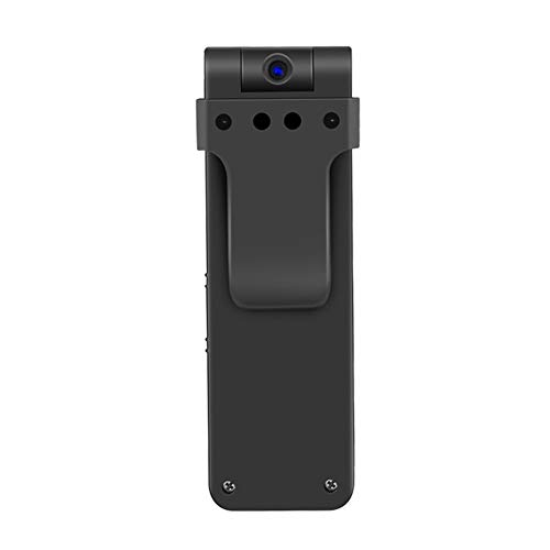 OMZBM Mini Recorder Hidden 1080P HD Cam 270 Degrees Rotazione with Wearable Body-Worn Clip Spy Camera with One Button Fast Record (Two Modes),64GB Memory Card ()