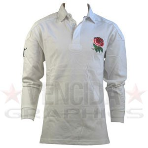 Classic England Rugby Shirt - COTTON TRADERS England Classic Long Sleeve Ruby Shirt 2011-Large