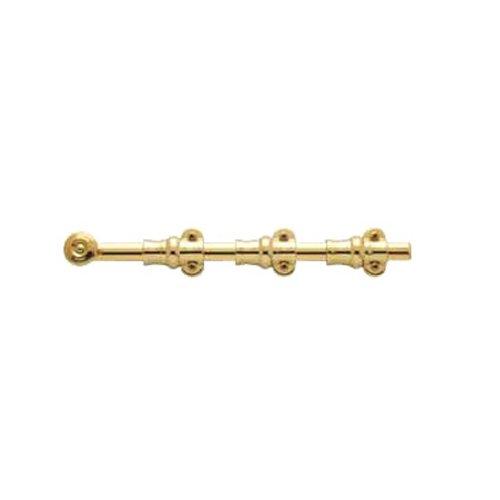- Baldwin Estate 0381.030 Ornamental Heavy Duty Surface Bolt in Polished Brass, 12