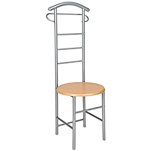 chair valet stand. tectake chair valet stand clothes hanger butler | dimensions: 42x120x43cm 0