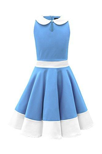 455fc129d BlackButterfly Kids 'Zoey' Vintage Clarity 50's Girls Dress (Blue, 3 ...