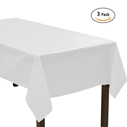 sunonline 3 Pack Disposable Tablecloth 54