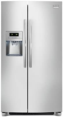 Frigidaire FPHC2399PF Professional 22.6 Cu. Ft. Stainless Steel Counter Depth Side-by-Side Refrigerator - Energy Star