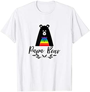 Cool gift Papa Bear Gay Support  - Gay Pride and Family Love Women Long Sleeve Funny Shirt