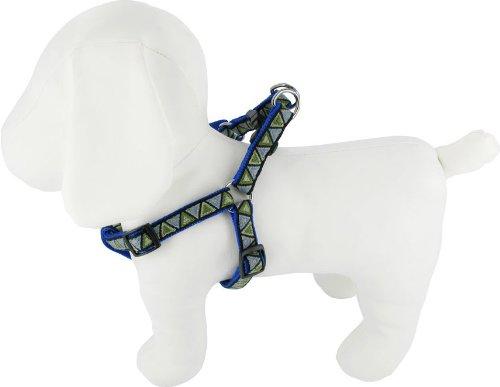 Kakadu Pet Aztec Nylon Step In Dog Harness, 1/2″ x 16-24″, Blue, My Pet Supplies