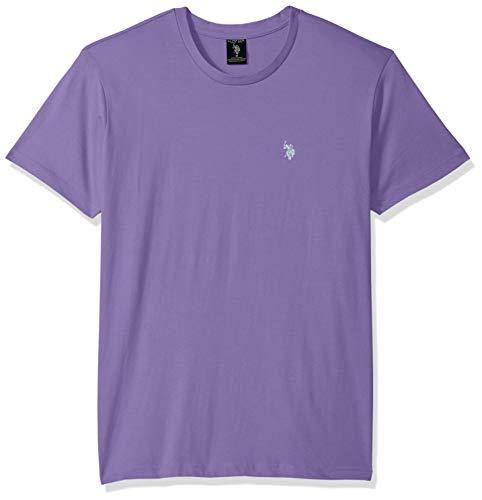 Paisley Pony - U.S. Polo Assn. Men's Crew Neck Small Pony T-Shirt, Paisley Purple, L