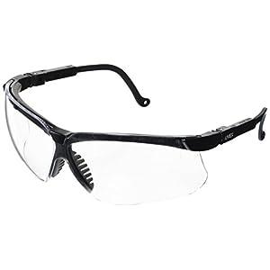 Uvex S3200 Genesis Safety Eyewear, Black Frame, Clear Ultra-Dura Hardcoat Lens