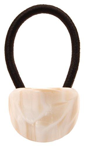 France Luxe Oval Ponytail Holder - Alba