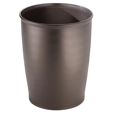 InterDesign Kent Bathware, Tall Waste Can, Bronze