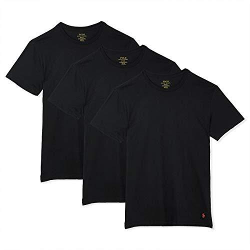 - Polo Ralph Lauren Men's 3-Pack Crew T-Shirt Black T-Shirt