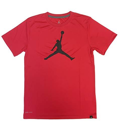 NIKE Air Jordan Boys Jumpman 23 Dri-Fit T-Shirt (X-Large, Action Red)