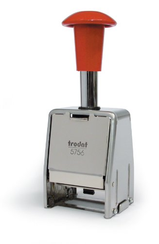 Trodat Numberer Stamp Metal Sequential Automatic Self-inking 8 Adjustments 5.5mm Digits - Ref 86624