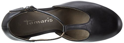 Tamaris 24428, Zapatos de Tacón para Mujer Negro (BLACK MATT 015)