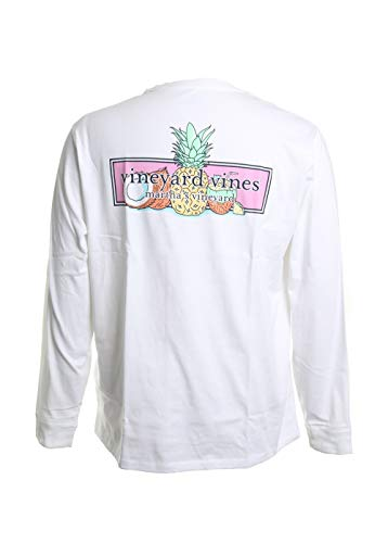 Vinyard Vines Long Sleeve Bahama Mama Tee in White Cap Size XL