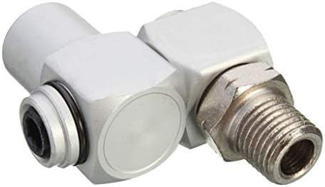 エアパイプアダプター コネクター継手 エアホースアダプター ホースコネクター 360度 ホース継手 1/4インチ