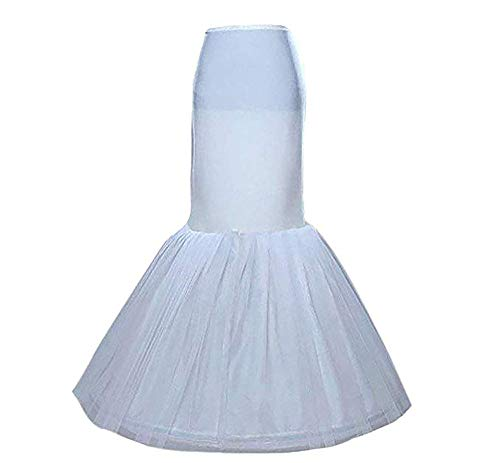 Women's Underskirt Wedding Mermaid Petticoat Slips for Bridal White