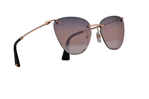 Valentino VA 2022 Sunglasses Rose Gold w/Blue Pink Mirror Lens 58mm 3004E6 VA2022S VA2022/S VA2022