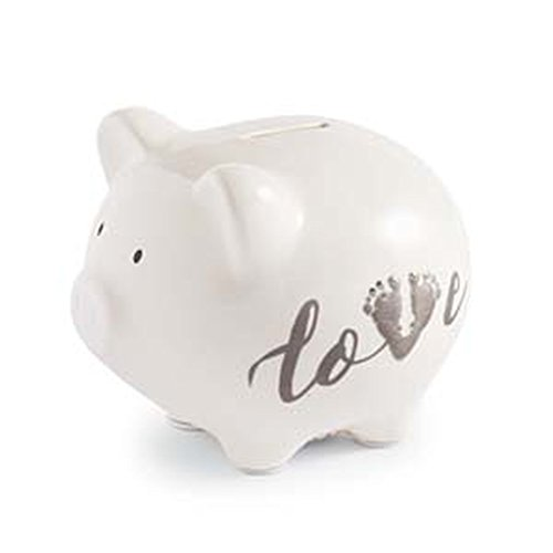 Piggy Bank Icon (Mud Pie March of Dimes Love Piggy Bank with Footprint)