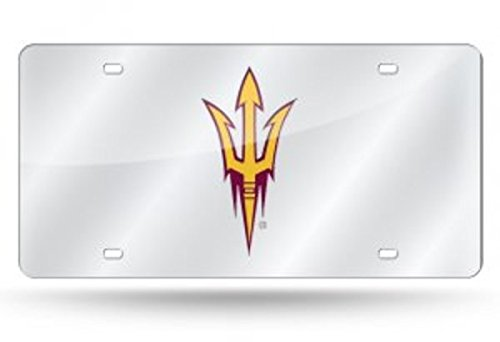 Rico Industries NCAA Arizona State Sun Devils Laser Inlaid Metal License Plate Tag by Rico Industries