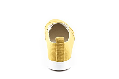 Slip CALICO Women's On Sneakers Canvas Mustard Casual KIKI TTFqZAg