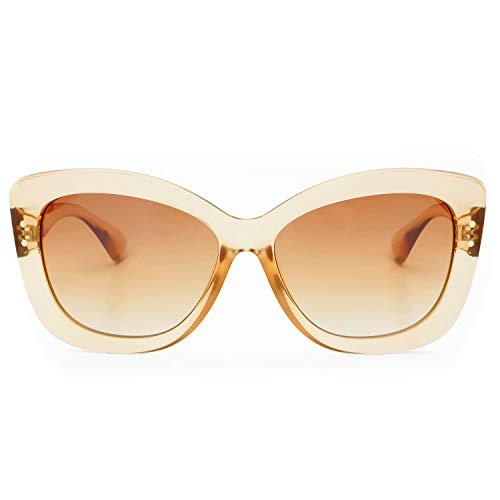 (FREYRS Eyewear Fiona Large Cat Eye Womens Sunglasses (Tan))
