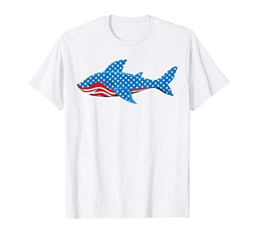 T-shirt Jawsome - Shark American Flag T-Shirt | Jawsome 4th Of July Kids Boys