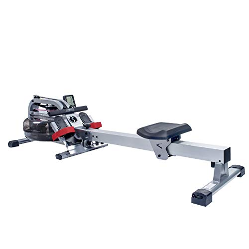 Sunny Health & Fitness Water Rowing Machine Rower w/LCD Monitor – SF-RW5866