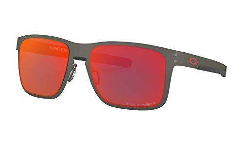 Oakley Men's OO4123 Holbrook Metal Square Sunglasses, Matte Gunmetal/Torch Iridium Polarized, 55 ()
