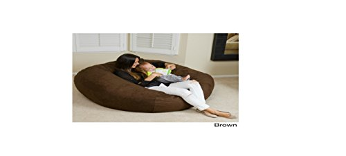 Huge 5-foot Bean Bag Faux Suede By Christopher Knight Madison. This Super Comfortable Beanbag Now Is for Sale! Extra Large Bean Bag Chair Is Amazing Both for Adults and for Children, Kids Can Play on It, While Adults Can Simply Relax in Its Softness (Brow by Christopher Knight Madison
