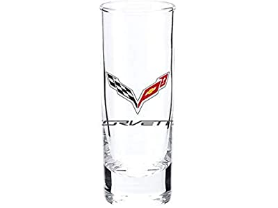 Cordial Shot Glass With Corvette C7 Logo - 2.5 Ounce