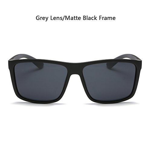 Polarized Sunglasses for Men Driving Mens Sunglasses Rectangular Vintage Sun Glasses For Men/Women Matte Black