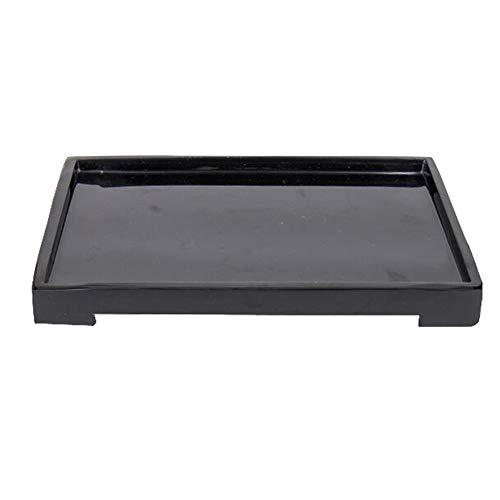 Liitrton Resin Storage Tray Bathroom Accessory Organizer Tray for Towel Shampoo Shower Gel (Black)