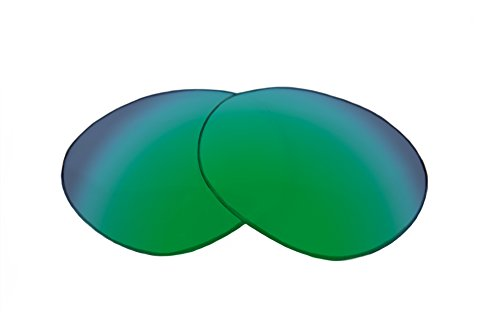 SFx Replacement Sunglass Lenses fits Oakley Beckon 60mm wide (Ultimate Grn-Yellow Mirror Green ()