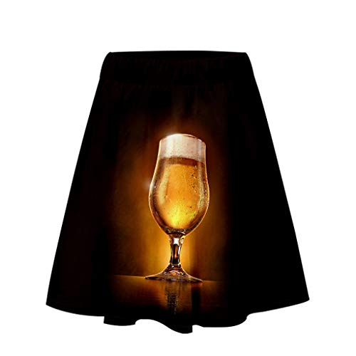 Togethor Casual Short Skirt Beer Festival Ladies' 3D
