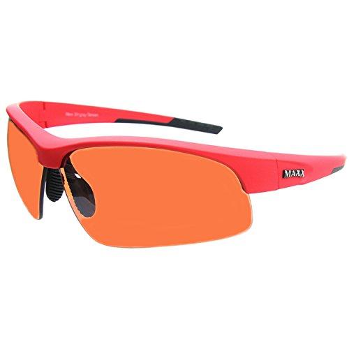 Maxx Sunglasses Stingray Red Frame Copper Lens
