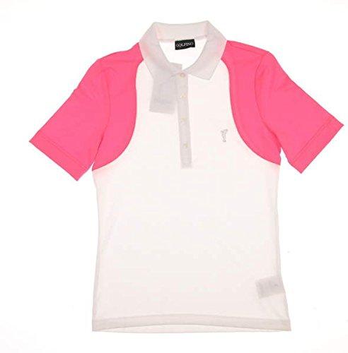 new-womens-golfino-volcano-colorblock-golf-polo-small-s-multi-white-pink-6230522