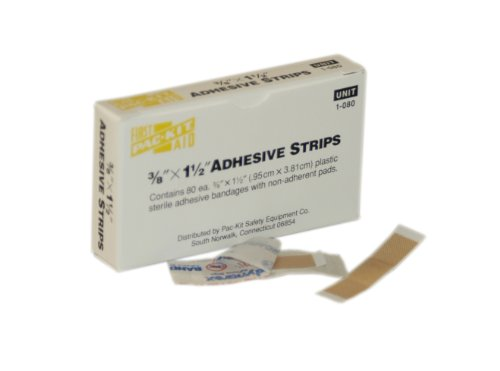 First Aid Only 1-080 Plastic Junior Strip (Pack of 100)