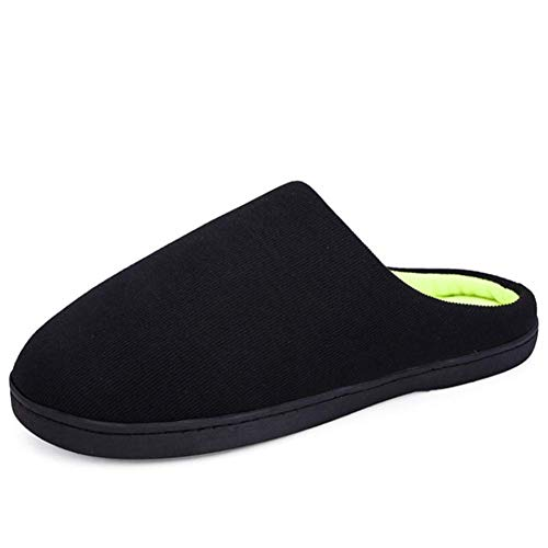 Casa Pantofole Antiscivolo Autunno Fondo black Semplice Di xxxl Scarpe Spesso Inverno Caldo Coperta E Black Coppia Cotone rwBYCr