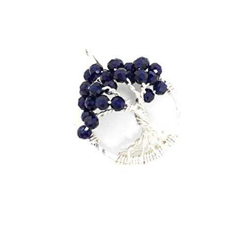 - Sapphire Jewelry Tree of Life Gemstone Necklace Pendant September Birthstone Metaphysical Jewelry Wire Wrapped Gemstones OOAK
