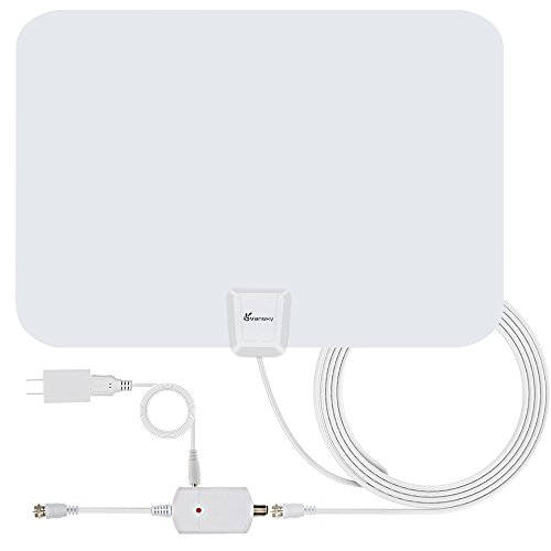 TV Antenna, Vansky Amplified Indoor HDTV Antenna 50 Miles Range with High Gain Detachable Amplifier Booster and Longer 16.5FT Coax Cable - Highest Performance