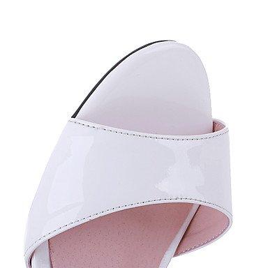 LvYuan Mujer-Tacón Robusto-Otro-Sandalias-Boda Vestido Fiesta y Noche-Cuero-Blanco White