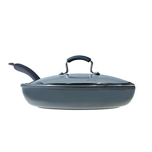 Epicurious Hard Anodized Nonstick 13-Inch Covered Fry Pan ()